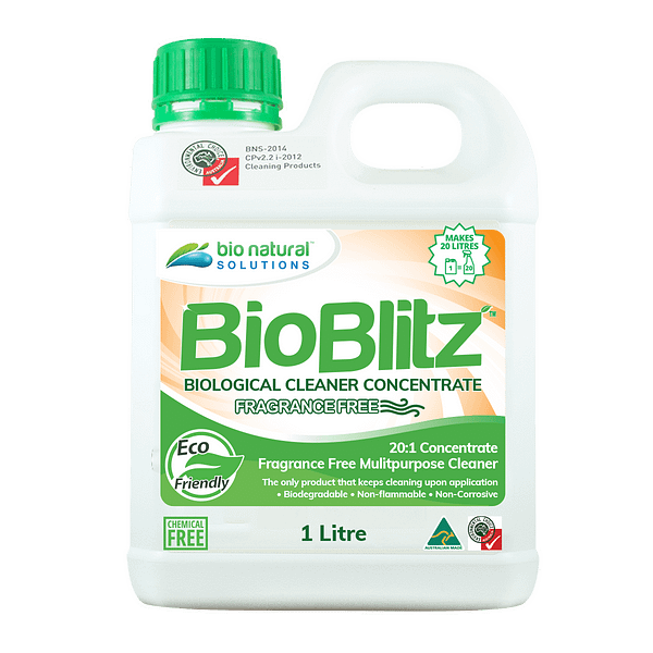 1 litre bottle of Bio Blitz Fragrance Free