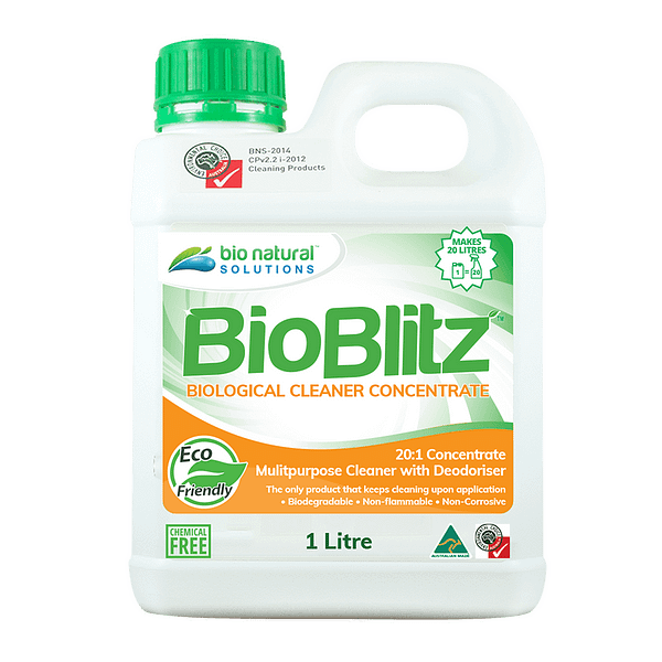 1 Litre bottle of Bio Blitz Biological Cleaner Concentrate