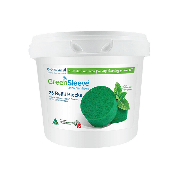 Green Sleeve™ Urinal Sanitiser Refill Blocks
